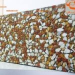 موزاییک واش بتن قرمز لیمویی سفید ویبره (۶۰*۳۰ )